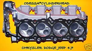 CHRYSLER DODGE JEEP CHEROKEE DAKOTA 4.7 SOHC CYLINDER HEAD val/&spring only 05-07