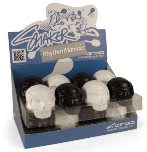 Rhythm Maniac percussion shakers from Birdio Skull and Bone Design Black White
