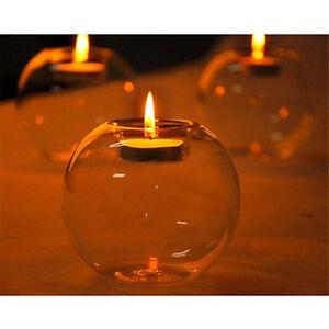 New-Crystal-Glass-Candle-Holder-Wedding-Bar-Party-Dinner-Decor-Candlestick-MDLJ