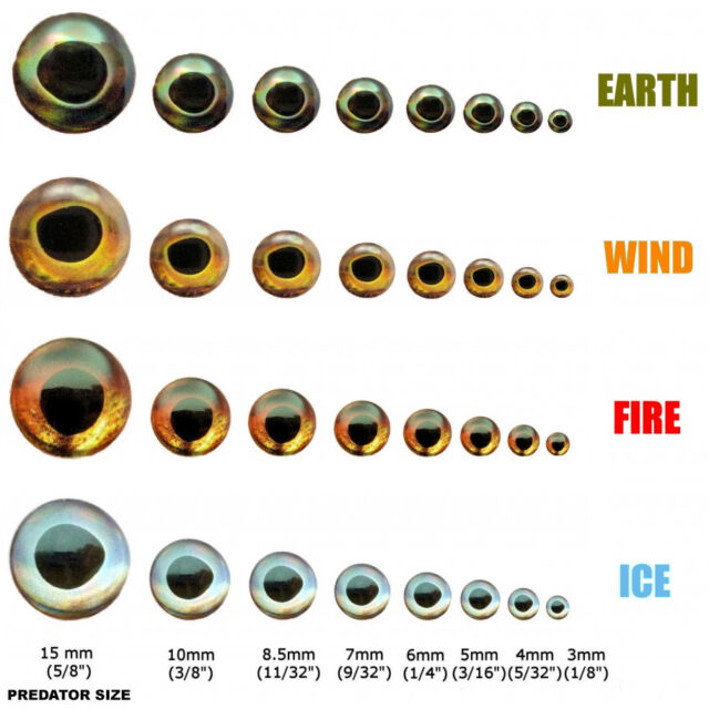 """ADHESIVE 3D EYES 6mm 1//4/"""" YOU PICK COLOR FLY TYING JIG // LURE MAKING CRAFTS"""