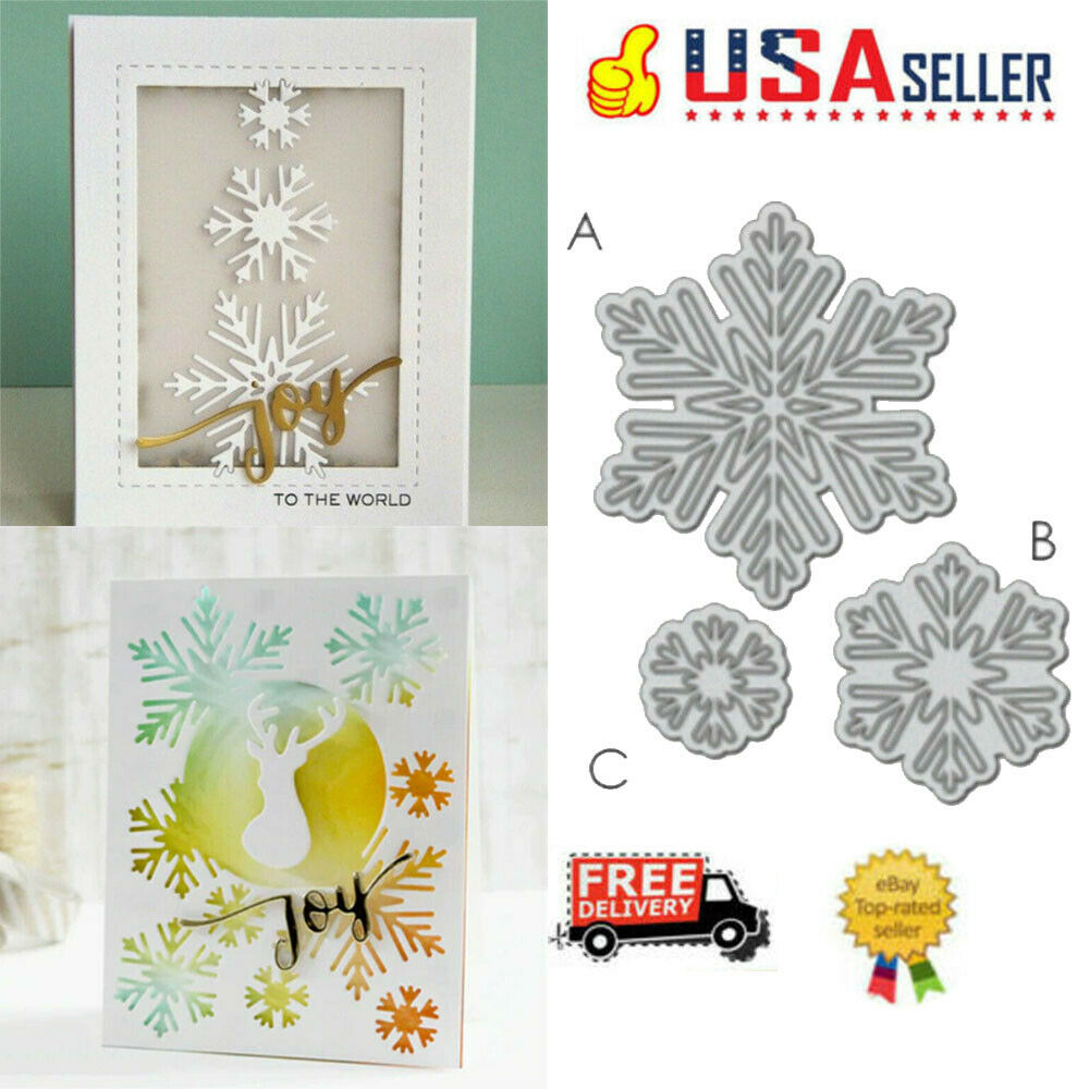 Snowflake Cutting Dies Stencil DIY Scrapbooking Embossing Paper Card Album Craft