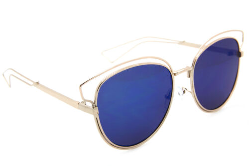 RARE COLORS Cat Eye CIDERAL Flat Mirror Metal Wire Aviator Fashion Sunglasses