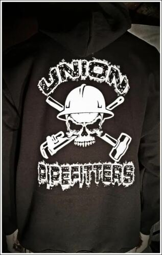 Union Pipefitter HOODIE Union Steamfitter shirt Skull Union Supporter All sizes