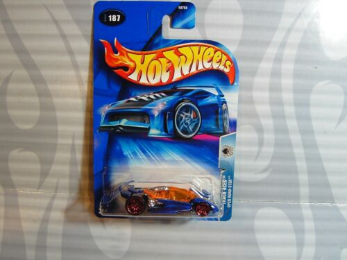 0714C 2004 HOT WHEELS /'/'TRACK ACES/'/' #187 = OPEN ROAD-STER = BLUE   rpr5