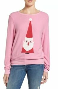 Wildfox Christmas Sweatshirt.Details About Nwt Wildfox Jingle Brit Exclusive Long Sleeve Sweatshirt Pink Christmas Gift