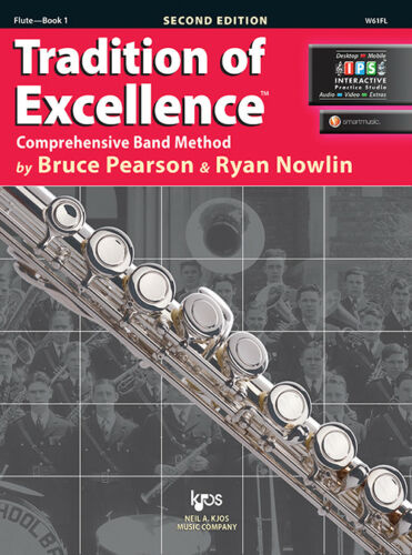 Flute Book 1 Book//Online Media W61FL Tradition of Excellence