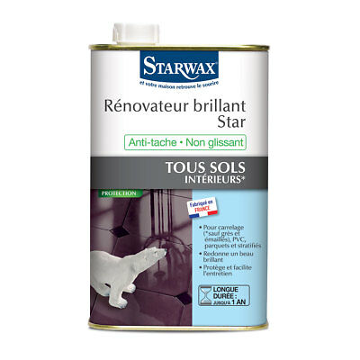 292 For Fast Shipping Glorious Starwax Rénovateur Brillante Star Per Sols Interni 1 Litro Home & Garden