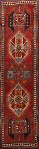 Vintage-Tribal-Hand-knotted-Meshkin-Geometric-Runner-Rug-Oriental-Carpet-4x12-ft