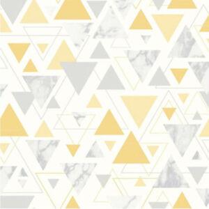 Sur De Soi Debona Géométrique Jaune Moutarde Gris Argent Marbre Papier Peint 5014-afficher Le Titre D'origine