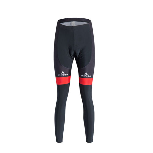 Women/'s Long Cycling Clothing Kit Reflective Cycle Jersey /& Padded Pants Set Red
