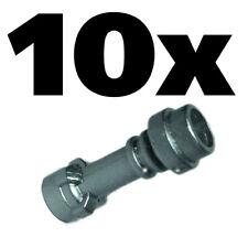 x30  NEW  LEGO® LOT STAR WARS MINIFIG LIGHT SABERS METALLIC SILVER HILT