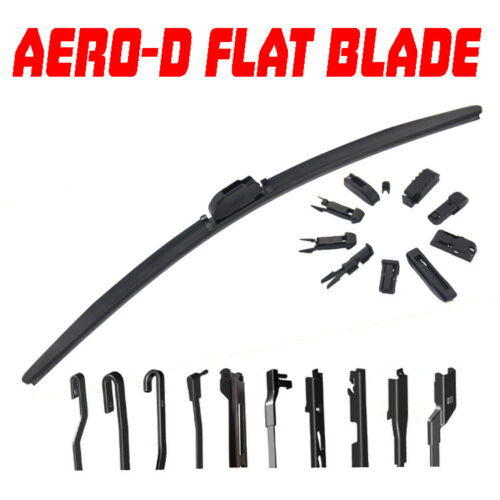 "Pair Aero-D Flat Front Windscreen Wiper Blades Set 24/"" 19/"" For Skoda SUBERB 05-O"