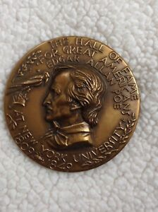 EDGAR ALLAN POE, MEDAL, HALL OF FAME FOR GREAT AMERICANS