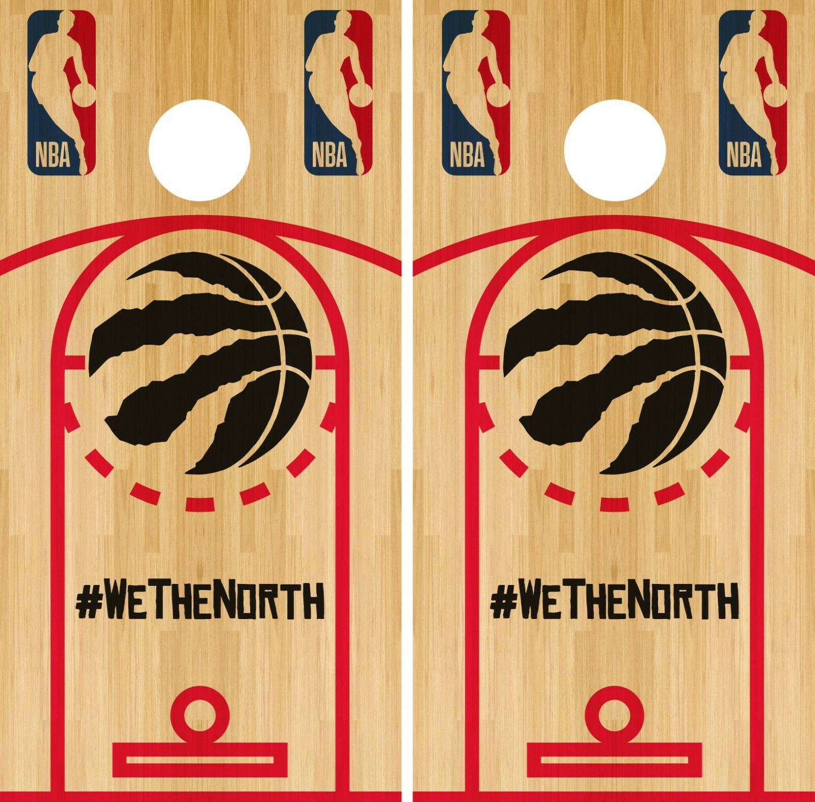 Tgoldnto Raptors Cornhole Wrap NBA Game Skin Board Vinyl Decal Court Set CO716
