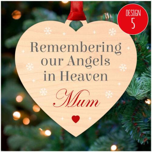 PERSONALISED Memorial Remembrance Christmas Tree Decorations Xmas Baubles Loved