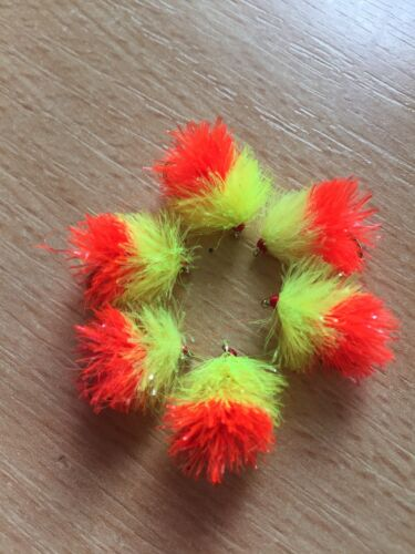 6 Tequila Blobs Reverse Tied Trout Flies Fly Fishing