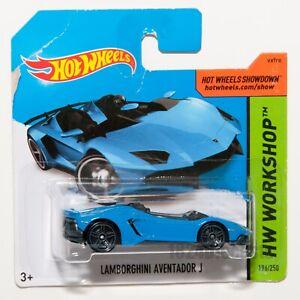Lamborghini-Aventador-J-Azul-escala-de-2014-Hot-Wheels-1-64-Raro-Coleccionable-Regalo