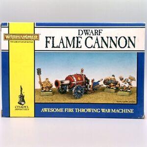 Vintage-Dwarf-Flame-Cannon-Warhammer-Fantasy-Citadel-Dwarven-War-Machine