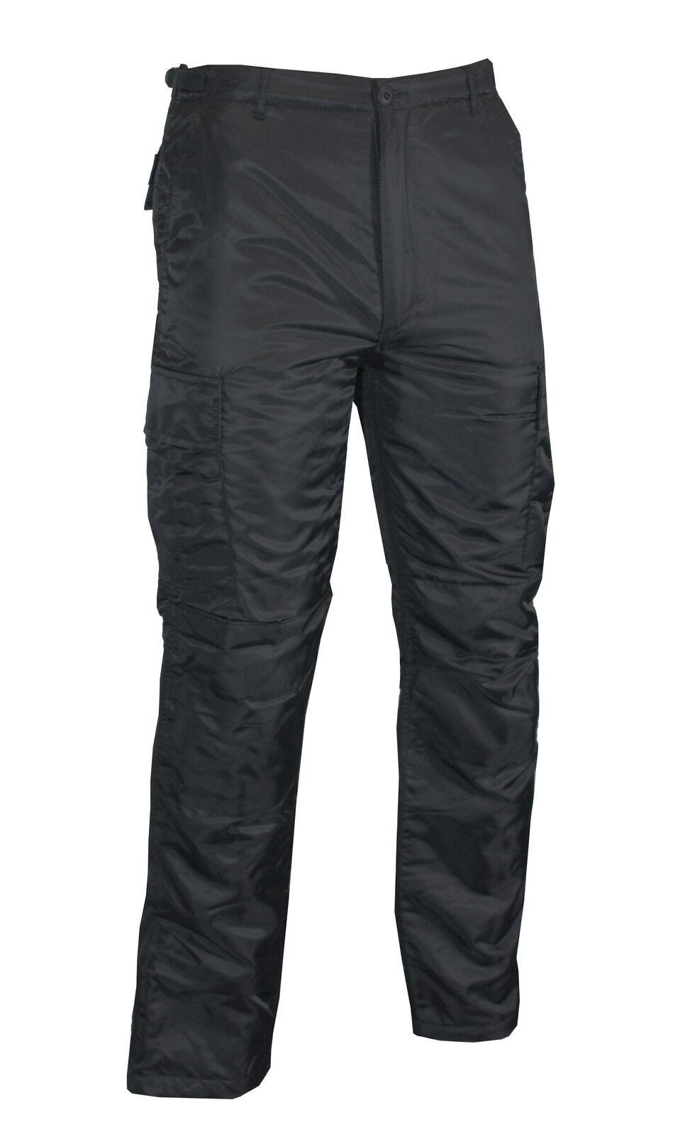 US MA1 black Inverno BDU Pantaloni - Foderato Imbottito Freddo Termico Bagnato