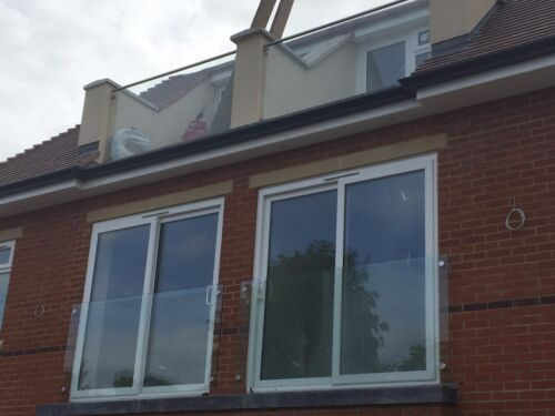 Modern Glass Juliet Balcony Various sizes from 1.2m to 2.8m sizes available