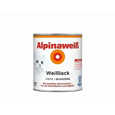 Alpinaweiß Weißlack - Der perfekte Universallack für alle Oberflächen & Objekte