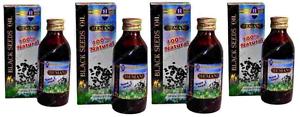 4 x Hemani Black Seed Cumin Nigella Sativa Oil Pure Natural Kolanji Oil  125ml