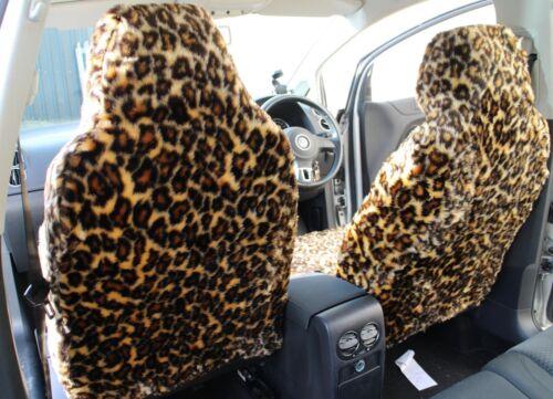 For Subaru WRX STI LEOPARD Faux Fur Furry Car Seat Covers Full Set