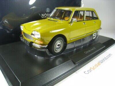 Norev Model Compatibile con Citroen AMI 8 Club 1969 Bouton dOr Yellow 1:18 DIECAST NV181670