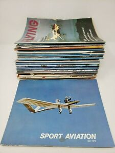 Huge-Lot-of-Aviation-Magazines-16lbs-1970-039-s-Sport-Aviation-Flying-Private-Pilot
