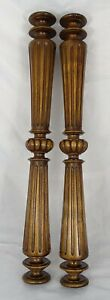 23-6-034-French-Antique-Pair-Carved-Wood-Trim-Posts-Pillars-Columns-Walnut