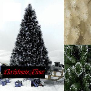 Black Christmas Tree.Details About 5ft 6ft Green Champagne Black White Glitter Tips Christmas Tree