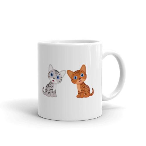 Cute Cats Cartoon Royalty Coffee Tea Ceramic Mug Office Work Cup Gift