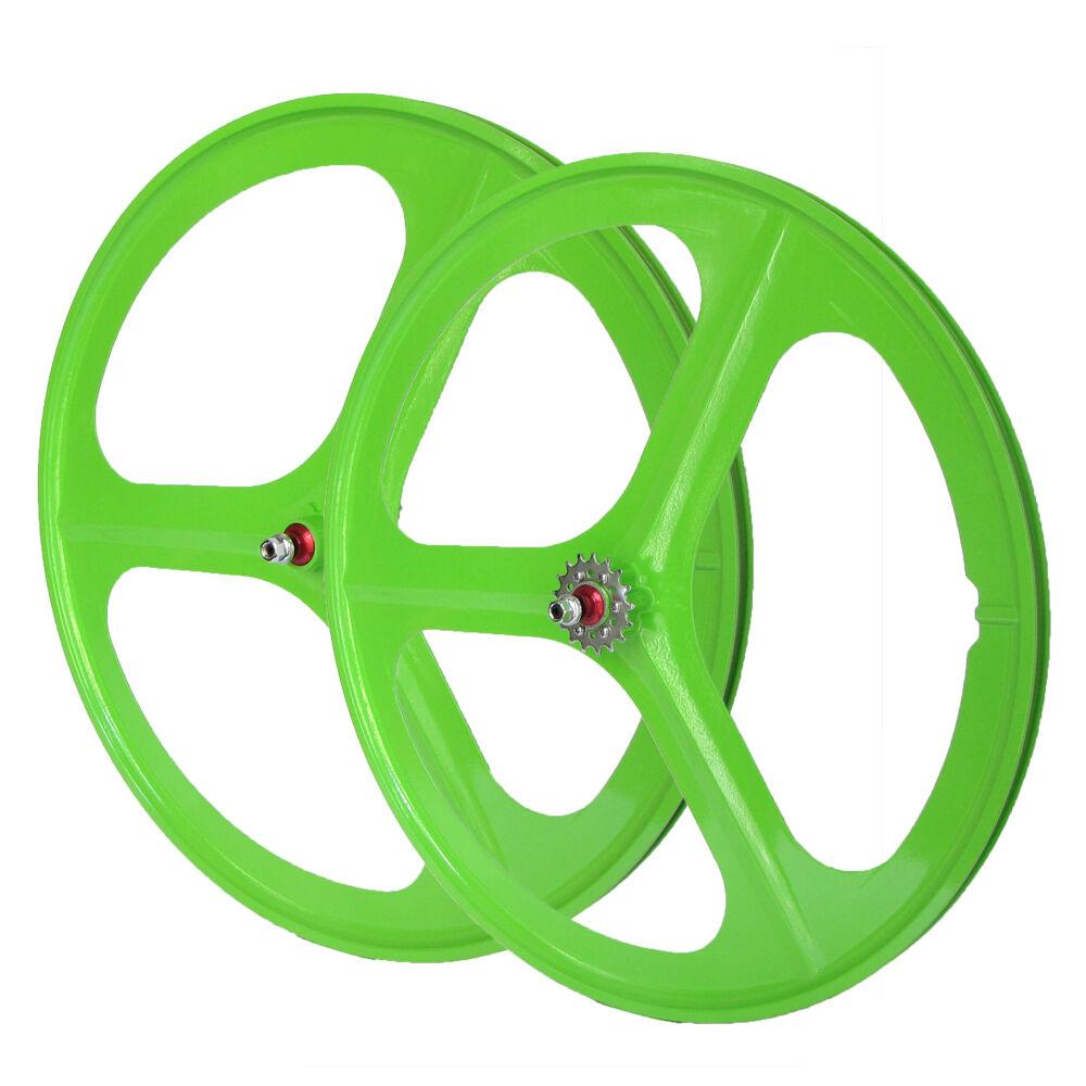 Laufradsatz Vorderrad oder Hinterrad Singlespeed Fixie 28  700C Grün