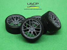 1/24 wheels 18 inch Volk Racing G27 with tires for Tamiya Aoshima Hasegawa