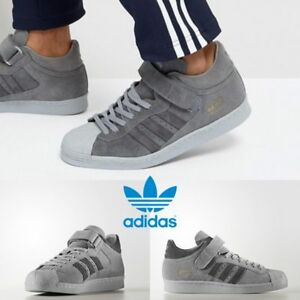 detailed look febe6 7f688 Image is loading Adidas-Original-Proshell-80s-Sneakers-Grey-Grey-Grey-