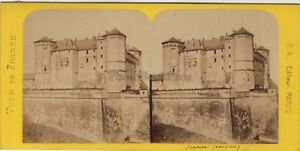 Saumur-France-Photo-Stereo-BK-Paris-Vintage-Albumine-ca-1870
