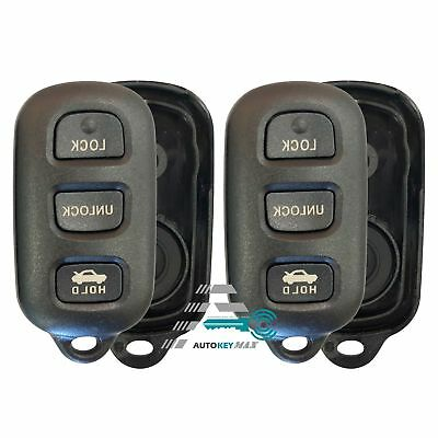 2 Car Key Fob Remote Shell Case For 2003 2004 2005 2006 Toyota 4Runner
