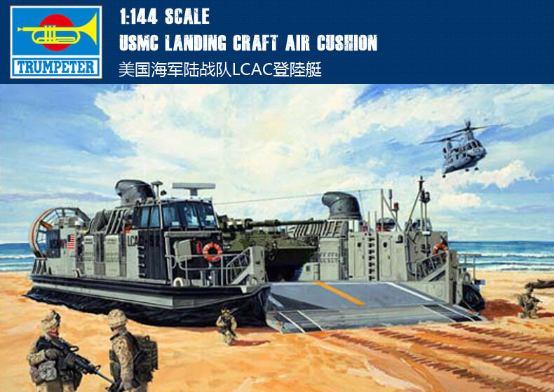 Trumpeter Model Kit - LCAC Landing Craft Air Cushion USMC - 1 144 Scale - 00107