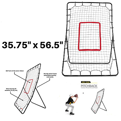 Pitch Return Trainer and Rebound Net Franklin Sports Pitch Back Baseball Rebounder All Angles for Grounders and Pop Flies