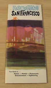 """VTG 1950's TRAVEL Brochure/Guide~""""FASCINATING SAN FRANCISCO""""~"""