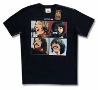 The Beatles Trunk Let It Be Album Cover Adult Black T Shirt Official