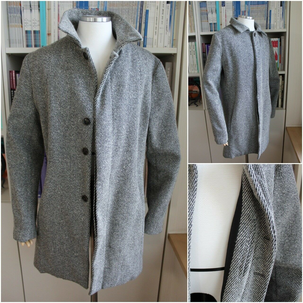 AUTHENTIC RIVIERA CLUB Uomo'S Gris Lana BLEND Cappotto RARE Sz-M RARE Cappotto MSRP- 599 LIMITED 764cd9