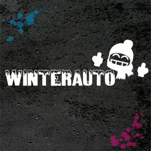 Winterauto snow shocker Winter Aufkleber fun sticker bomb jdm oldschool WI029