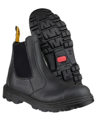 AMBLERS S3 HRO SRC Slipper Sicherheitsschuhe Arbeitsstiefel Chelsea Boots