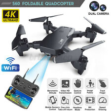S60 Foldable RC Drone Quadcopter With HD 4K WIFI 1080P Dual Camera Altitude