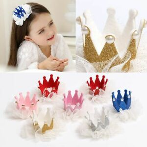 Kawaii-Crown-Hairclip-Lace-Pearl-Star-Barrettes-Baby-Headband-Headwear-Hot-New