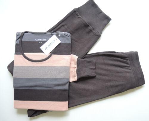 Schiesser chaud femmes pyjama ou chemise de nuit Verrouillage Taille 38-48 Neuf