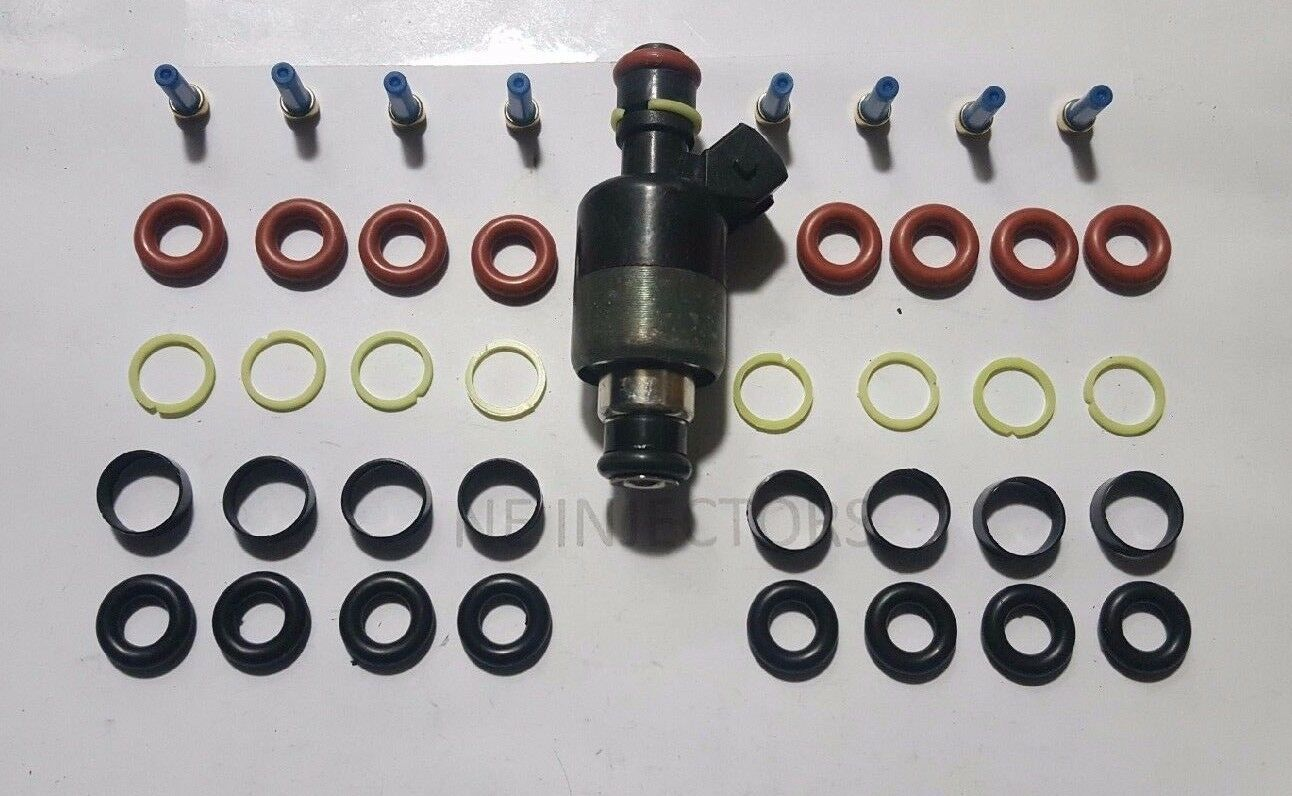 Rochester Chevy GM Fuel Injector Rebuild Repair Kit Oring Seals Filter 8 Cyl