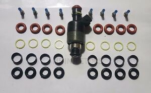 Rochester-Chevy-GM-Fuel-Injector-Rebuild-Repair-Kit-Oring-Seals-Filter-8-Cyl