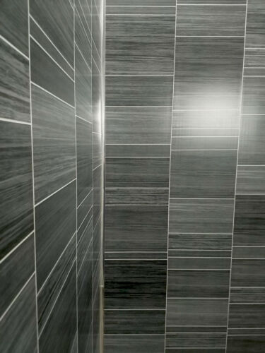Grey Bathroom 8mm Wall Panels PVC Cladding Shower Wet Wall Tile Marble Effect WC